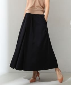 ●MADISONBLUE / COTTON SILK SPLIT TUCK SKIRT