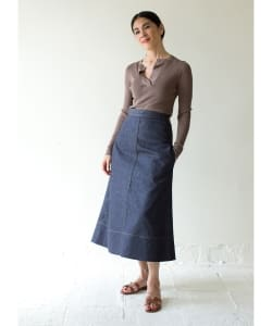 MADISONBLUE / TRAPAZE DENIM LONG SKIRT●