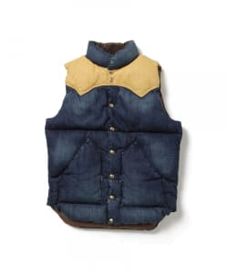 ROCKY MOUNTAIN FEATHERBED / <Men's>Denim down vest