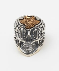 "B.W.L×JEFF DECKER ""BLUE EYED DEVILS""Collections / Skull with Motor RING"