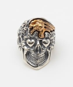 "B.W.L×JEFF DECKER ""BLUE EYED DEVILS""Collections / Skull with Screaming Skull RING"