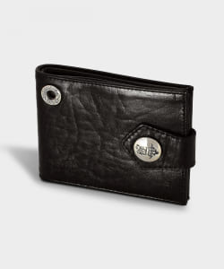 Bill Wall Leather / W924 Horse Leather Billfold with B-Crown Button