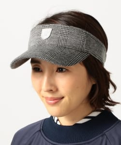 BEAMS GOLF PURPLE LABEL / チェック サンバイザー(WOMEN'S)