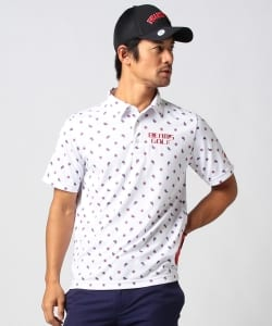 BEAMS GOLF ORANGE LABEL / ペイズリー プリント ポロシャツ
