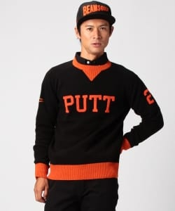 "BEAMS GOLF ORANGE LABEL / ""Putt""クルー ニット"