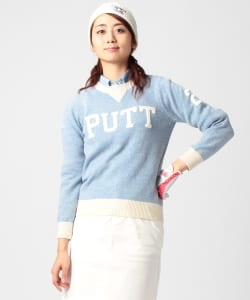 BEAMS GOLF ORANGE LABEL / PUTT クルーネック ニット