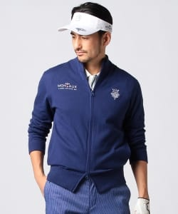 BEAMS GOLF PURPLE LABEL / MONTAUK ニット ブルゾン