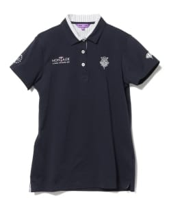 BEAMS GOLF PURPLE LABEL / MONTALK 2重エリ ポロシャツ