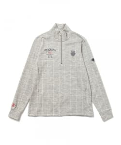 BEAMS GOLF PURPLE LABEL / BROOKLYN GOLF&SUPPLY チェック ハーフジップ プルオーバー