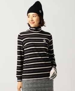 BEAMS GOLF PURPLE LABEL / ボーダー ハイネック