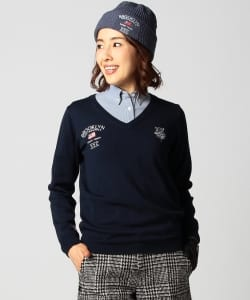 【1/13~再値下げ】BEAMS GOLF PURPLE LABEL / BROOKLYN GOLF&SUPPLY Vネック プルオーバー