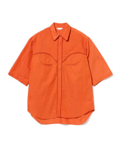 WELLDER / Cord Trimming Short Sleeves Western Shirt
