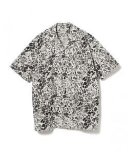 GOLD / COTTON SLAB LEOPARD S/S SHIRT