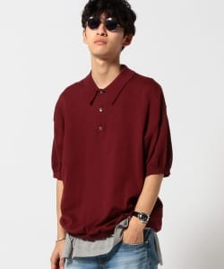 VAPORIZE / Big Knit Polo Shirt