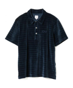 POLAR SKATE CO. / Stripe Velour Polo Shirt