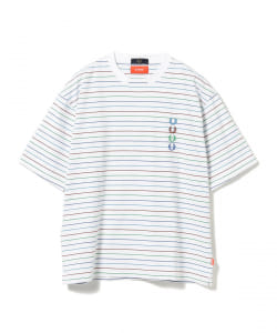 BEAMS × FRED PERRY / 別注 ストライプ Tシャツ