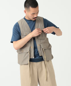 ENGINEERED GARMENTS / Game Vest Tattersall