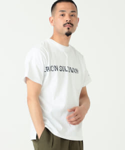 ENGINEERED GARMENTS / PRINTED CROSS CREW NECK T-shirt