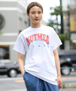 NUTMEG / College Tシャツ