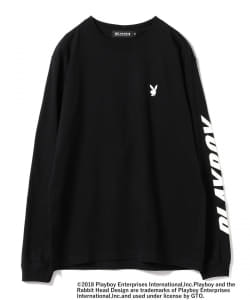 PLAYBOY × BEAMS T / 別注 プリント ロングスリーブTee