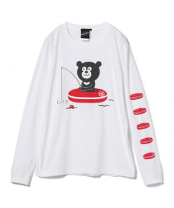【SPECIAL PRICE】The Wonderful! design works. / Fishing Bear Long Sleeve Tee