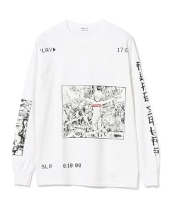 F-LAGSTUF-F × VIDEO GIRL / PLAY Long Sleeve Tee