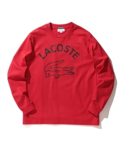 LACOSTE × BEAMS / 別注 ビッグ ワニ ロングスリーブ Tシャツ