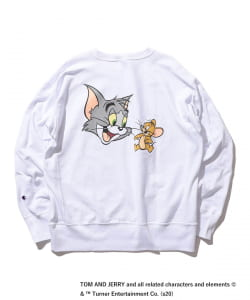 Champion × BEAMS / 別注 TOM AND JERRY ロングスリーブ カットソー