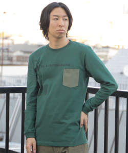 【SPECIAL PRICE】BEAMS T / MILITARY INTELLIGENCE ポケット ロングスリーブ Tシャツ