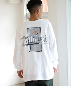 【SPECIAL PRICE】BEAMS T / Billiards/Burger ロングスリーブ Tシャツ