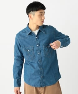 Wrangler × BEAMS / 別注 27MW Denim Western Shirts 18ss