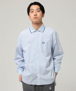 FRED PERRY × BEAMS / 別注 リブカラー シャツ