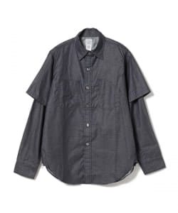 POST OVERALLS / 1102 SHIRT R+Half  indigo