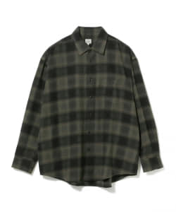 GOLD / BIG FLANNEL CHECK SHIRT