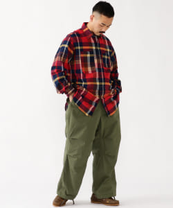 ENGINEERED GARMENTS / WORK SHIRT COTTON BIG MADRAS