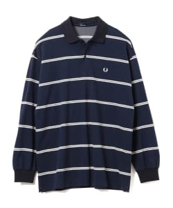 FRED PERRY × BEAMS / 別注 ボーダー ロングスリーブ ポロシャツ
