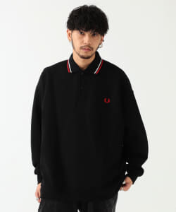FRED PERRY × BEAMS / 別注 ロングスリーブ ピケ ポロシャツ