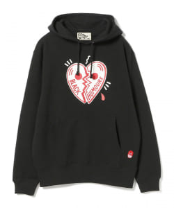 BLACK HUMOURS by Jody Barton / BLACK HEART Hoodie