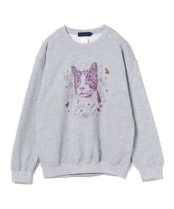 【タイムセール対象品】BEAMS T / TRAVIS MILLARD Crewneck Sweatshirt