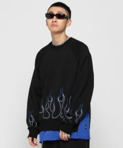 VAPORIZE / Side Zip Fire Crew Sweat