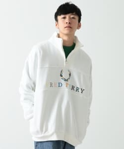 FRED PERRY × BEAMS / 別注 90'sロゴ 切替 ハーフジップ