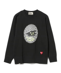 BLACK HUMOURS by Jody Barton / Black Bricked Sphere Crewneck Sweatshirt