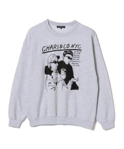 【予約】CHARI&CO / NOISE PUNK CREWNECK SWEATS