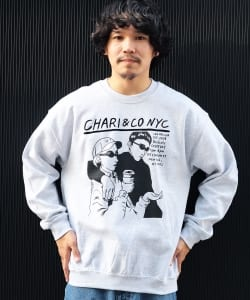 【アウトレット】CHARI&CO / NOISE PUNK CREWNECK SWEATS