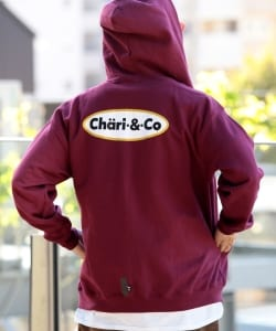 CHARI&CO / ICE CREAM LOGO ZIP UP HOODIE SWEATS