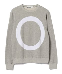 【予約】ALOYE / Circle Color Block Sweatshirt