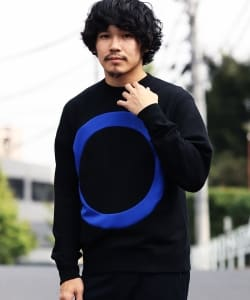 ALOYE / Circle Color Block Sweatshirt