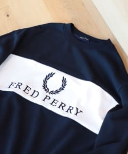 FRED PERRY × BEAMS / 別注 90sロゴ 切替 クルースウェット