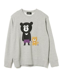The Wonderful! design works. / Dog Walk Bear Crew Sweatshirt