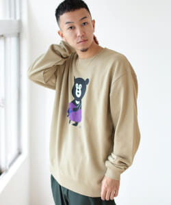【SPECIAL PRICE】BEAMS T / VEGETABLE BEAR クルーネック スウェット